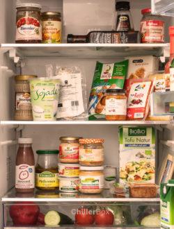 veganer Kühlschrank