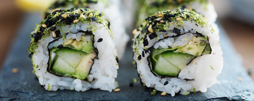 sushi vegan genie en vegan taste week. Black Bedroom Furniture Sets. Home Design Ideas