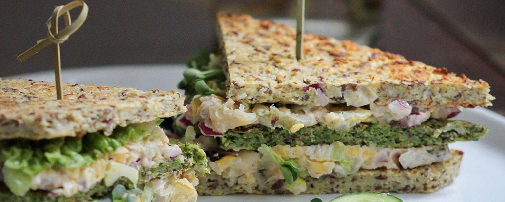 Blumenkohl- und Brokkoli-Sandwichbrot