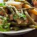 Birnen, Bohnen und veganer Speck