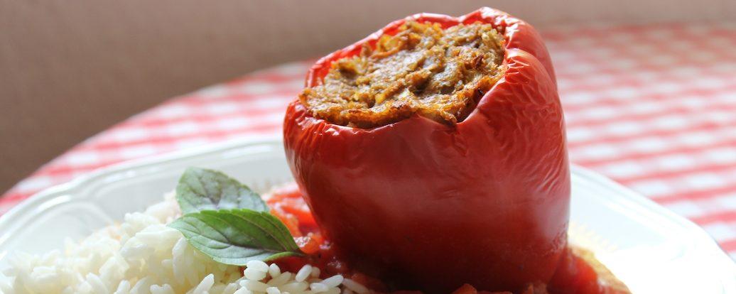 Gefüllte Paprika mit Grünkern