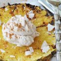 Gegrillte Ananas mit Zimt-Kokos-Creme