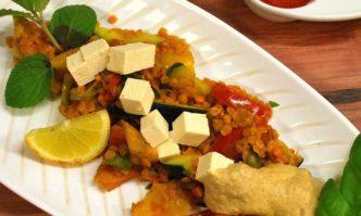 Linsenpfanne mit Tomaten & Zucchini