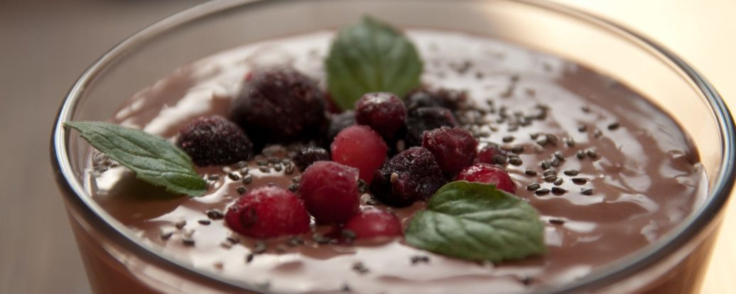 Mousse-Variation mit Wildbeeren