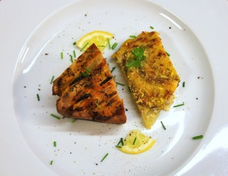 Räuchertofu-Kartoffelgratin