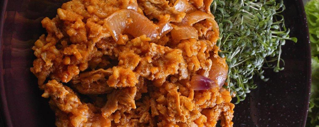 Veganes Reisfleisch