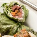 Salatwraps mit Wassermelone