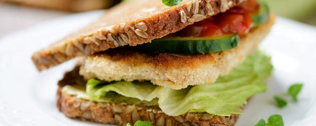 Sojasteak-Sandwich