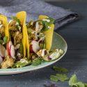 Tacos mit geröstetem Blumenkohl & Linsen