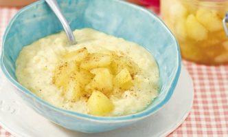 Milchreis mit Apfel-Zimt-Kompott