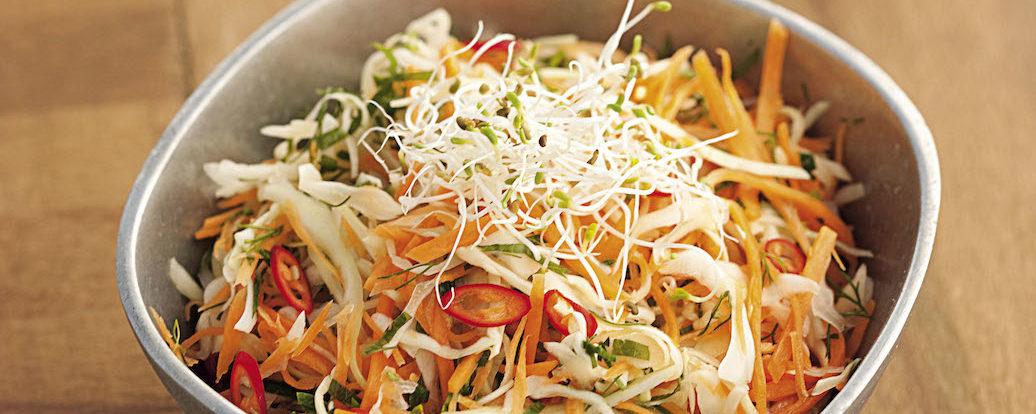 Feurig-frischer Krautsalat