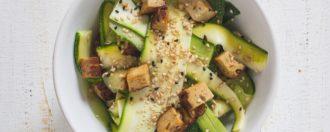 Zucchini-Gurken-Salat