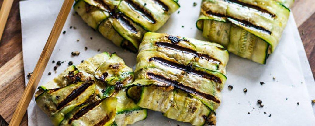 Zucchinipäckchen mit Dinkelhack-Füllung