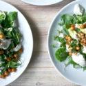 Caesar-Salat mit Kichererbsen