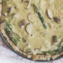 Spargel-Quiche mit Champignons