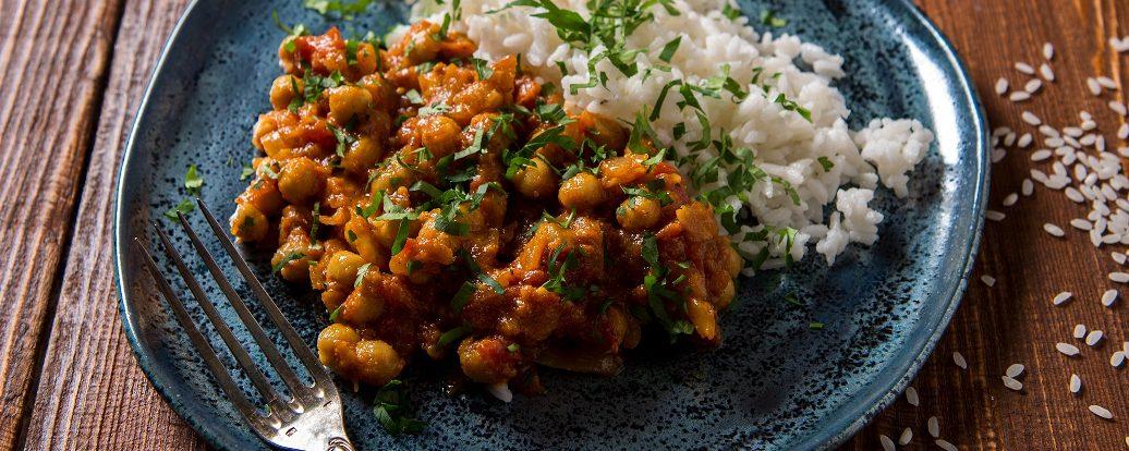 Kichererbsen-Curry mit Mango oder Banane