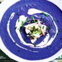 Pikante violette Suppe