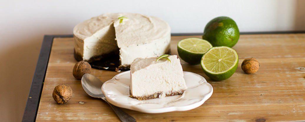 Veganer Limetten-Käsekuchen