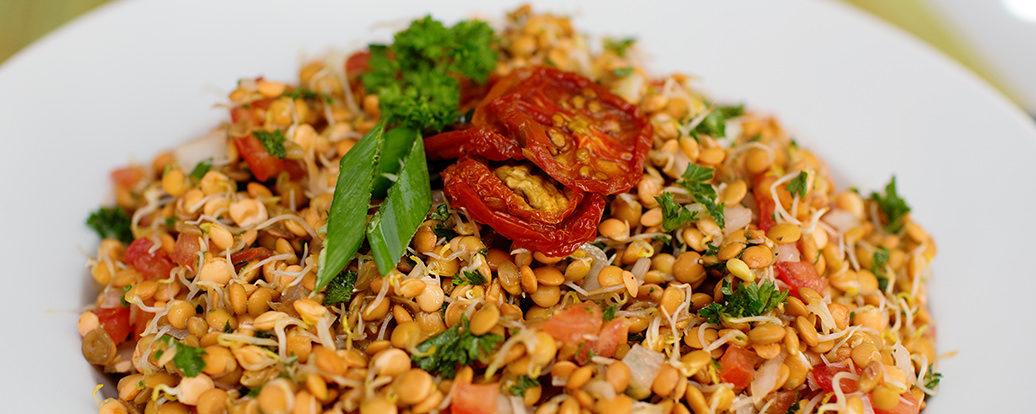 Linsensprossen-Salat